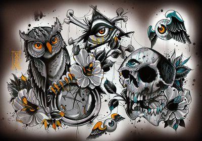 Dark sheet no 2 by *WillemXSM on deviantART | Tattoo Flash ...