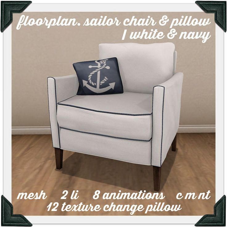 floorplan. sailor's chair pillow / white+navy | Flickr - Photo Sharing!