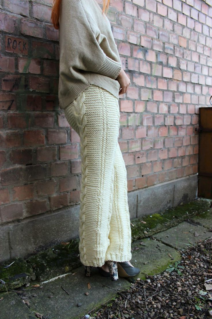 Knitted pants  Handmade by Daniela Igret