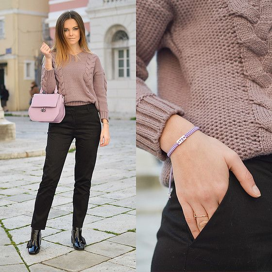 Get this look: http://lb.nu/look/8610729  More looks by Tamara Bellis: http://lb.nu/tamarabellis  Items in this look:  Zaful Sweater, Gamiss Patent Leather Booties, Zaful Bag, Kahlim Choi Bracelet   #classic #elegant #minimal