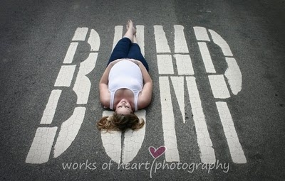 Cute pregnancy photo @ Brigid Nelson. This needs to happen at your next maternity shoot!
