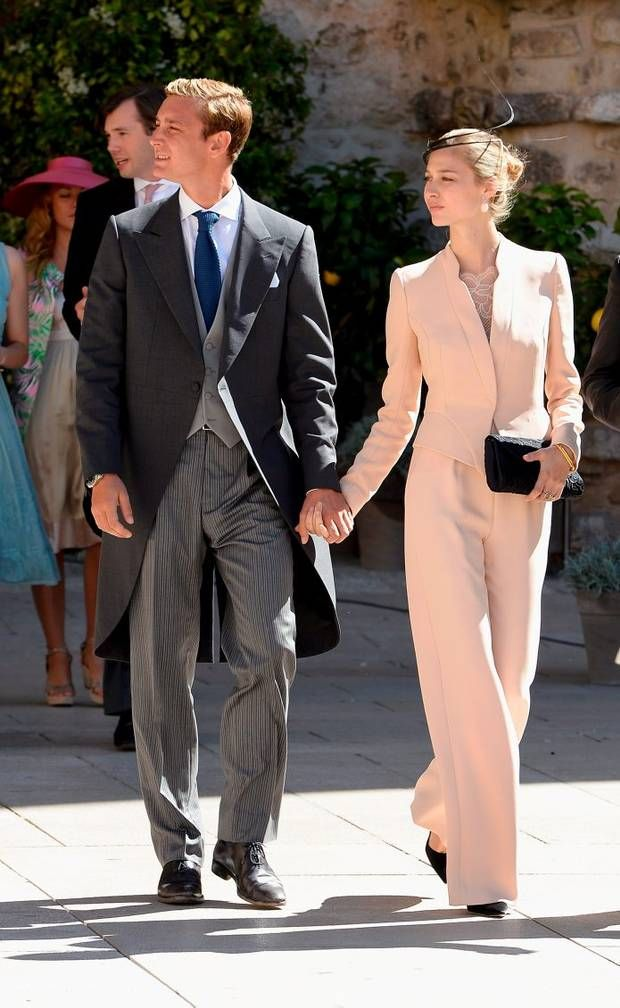 Pierre Casiraghi and girlfriend Beatrice Borromeo attend the Religious Wedding Of Prince Felix Of Luxembourg and Claire Lademacher at the Basilique Sainte Marie-Madeleine on September 21, 2013 in Saint-Maximin-La-Sainte-Baume, France. (Photo by Pascal Le Segretain/Getty Images)