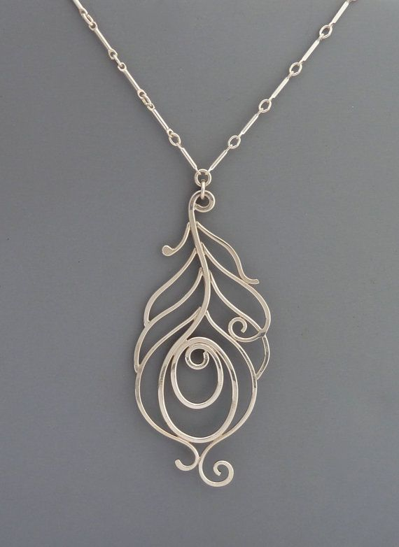 Sterling Silver Peacock Necklace