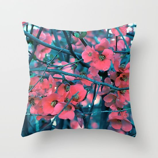 Floral abstract(61) Throw Pillow
