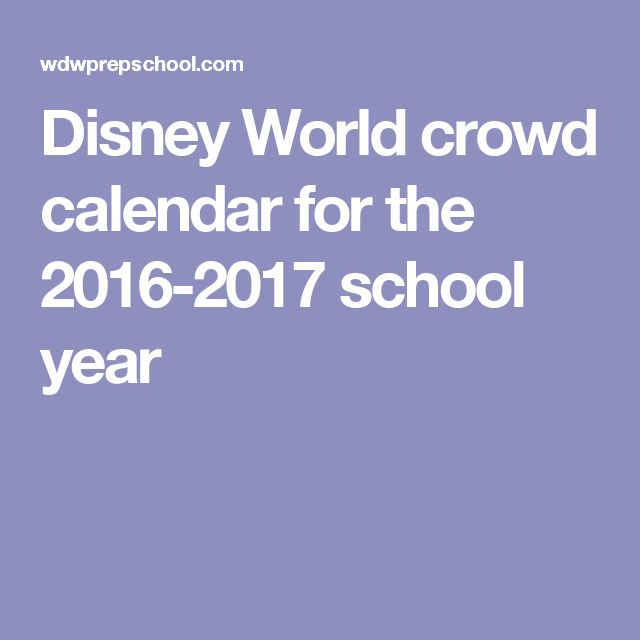 Disney World Crowd Calendar on Pinterest | Crowd Calendar, Disney ...