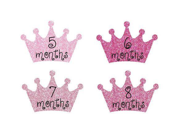 Milestone Stickers Baby Month Stickers Baby by StickToItDesigns
