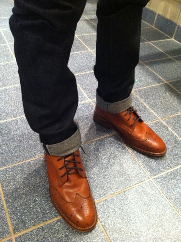 Selvedge Jeans And Wingtip Boots Drool Estilo