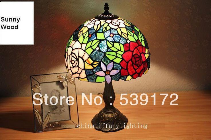 Бесплатная Доставка 12 Дюймов Shell лампа, лампа тиффани, Бесплатная 5 Вт E27 СВЕТОДИОДНЫЕ Лампы для продвижения, настольный Светильник для гостиной 90-260VAC TEN-T-091