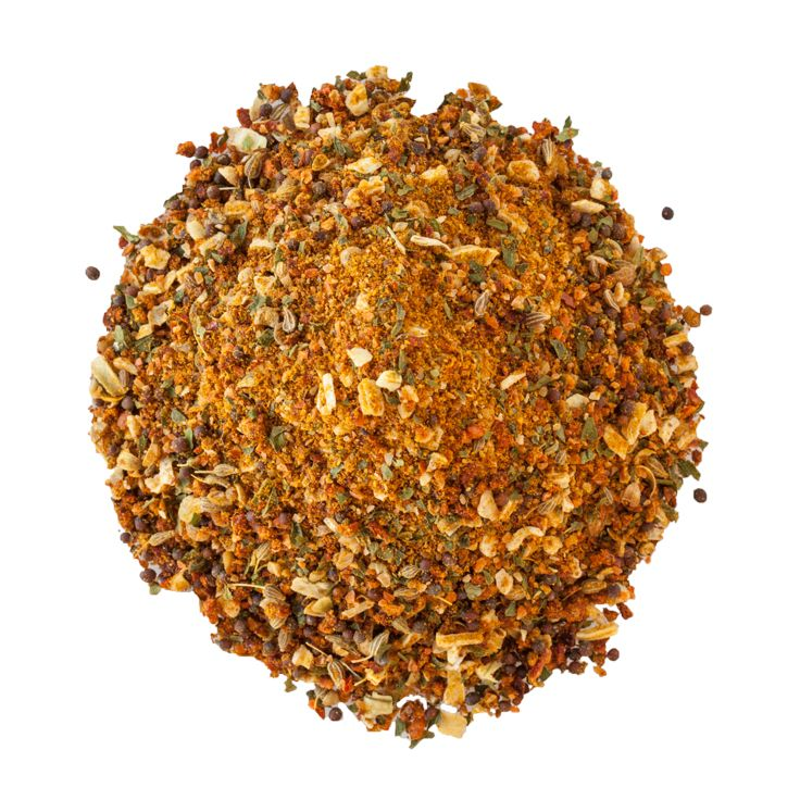 Le Taj Secret Sauce: This blend wows with the flavour of mild curry, coriander, anise seed, and the satisfying crunch of whole black mustard. (Kosher)
