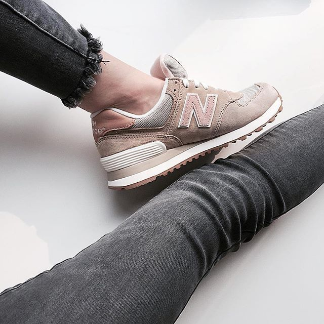 new balance gris rose gold