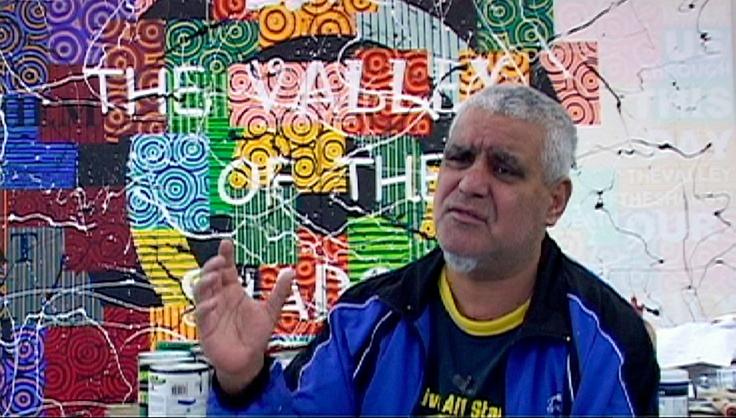 Janelle Evans, What is Aboriginal art ?, 2012- Extrait vidéo, conversation avec Richard Bell, DVPAL – Stéréo, 12 mins © The Artist