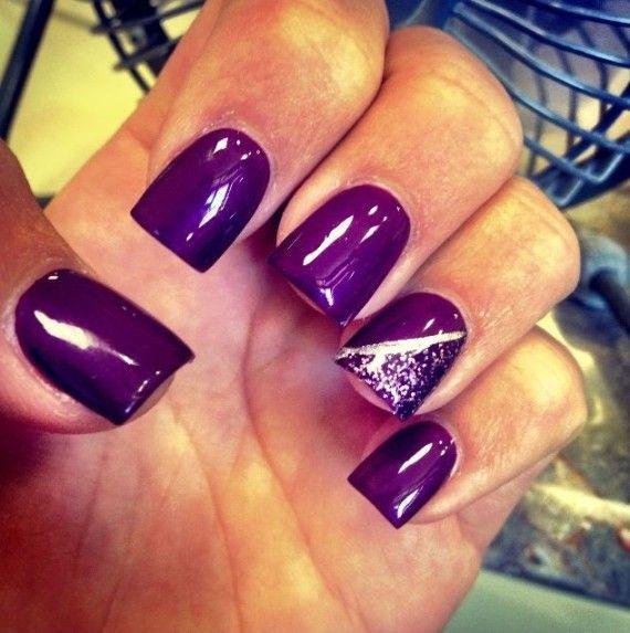 #Purple #Nails #uñas Color #purpura #indigo #morado