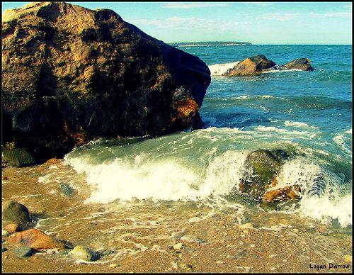 Darrow >> Waves on Rocks ~ Block Island, Rhode Island Photo by Logan Darrow www.logan-darrow.tumblr.com ...