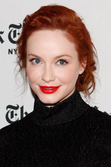 Even redheads can pull off red lips.  Use Revlon Super Lustrous - Creme Lipstick, Tempteress 680