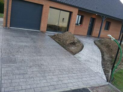 All e de garage et all e anneux entreprise art deco all e pinterest - Pave pour allee garage ...