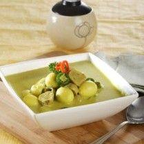 telur puyuh masak santan cabai hijau