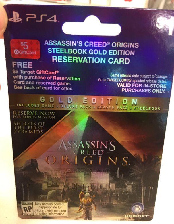 [Screenshot] Assassin's Creed Origins Leaked Pre-Order Card Image #Playstation4 #PS4 #Sony #videogames #playstation #gamer #games #gaming