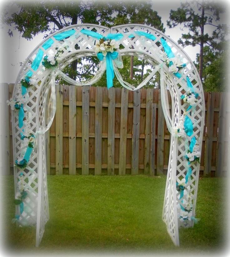 Wedding arbor beach wedding pinterest for Arbor wedding decoration ideas