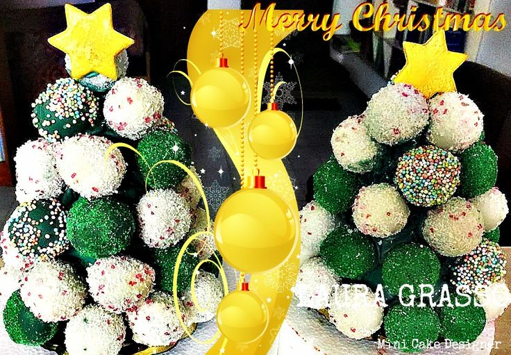 Christmas cake pops tree ...
