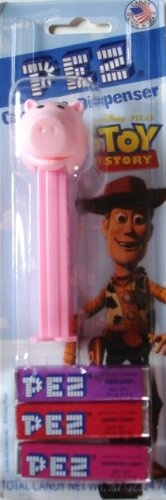 ($2.99) Pez Toy Story Hamm the Piggy Bank Dispenser and 3 Assorted Candy Refills  From Pez