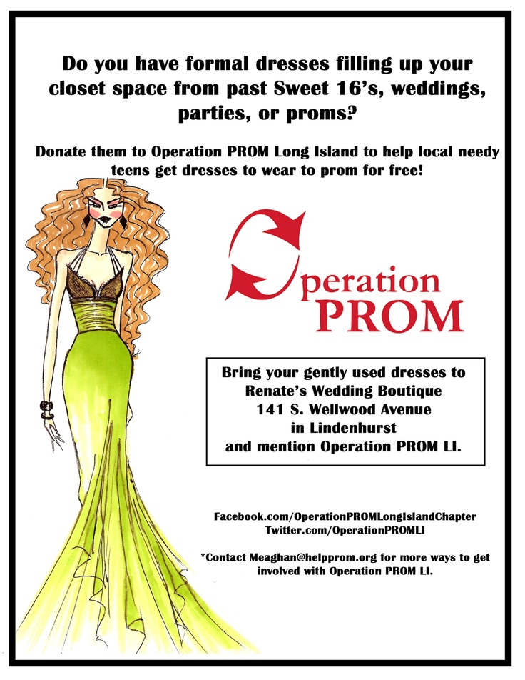 17 best images about everything operation prom on for I do foundation donate wedding dress