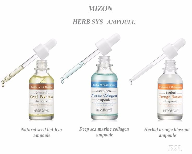 [MIZON] HERB SYS Ampoule 3types / Seed Bal-Hyo , Marine collagen, Orange Blossom #Mizon