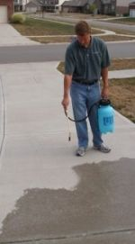 Seal your driveway with our natural look concrete water-repellent.  Our water-based siloxane formula protects your concrete driveway, patio and sidewalk from damaging de-icing salts and water penetration.  A-Tech Concrete Sealer penetrates below the surface of the concrete for long lasting protection.  Call us at 1-877-277-5948 to order or to learn more.