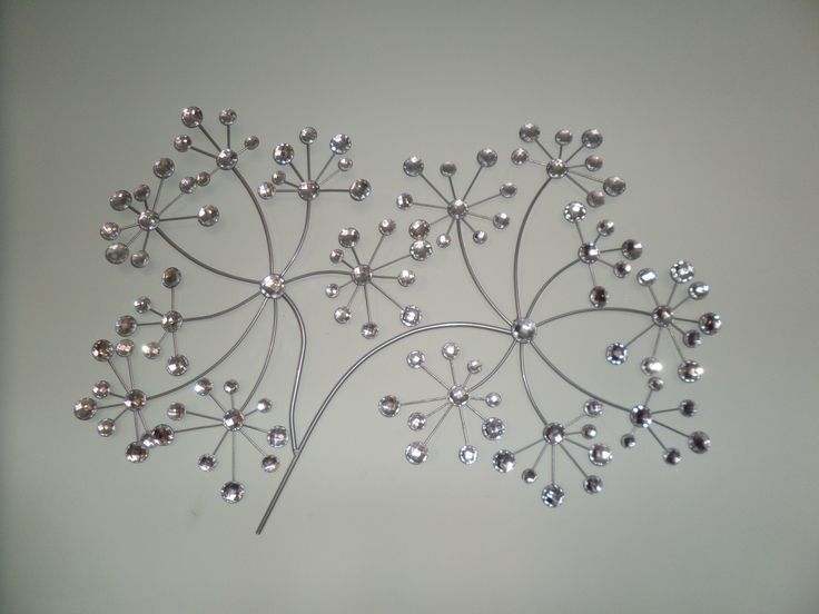 sparkly silver wall art for my bedroom seed head from