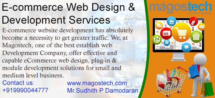 Magostech creates customized e-commerce website that are effective and full of features. We use powerful web scripting languages and fast SQL database in which all financial transactions are conducted via a 128 bit encrypted SSL connection. If you are not sure exactly what you are looking for, our team is ready to guide you through the e-commerce website development process and offer you the options that can help your business develop even further.