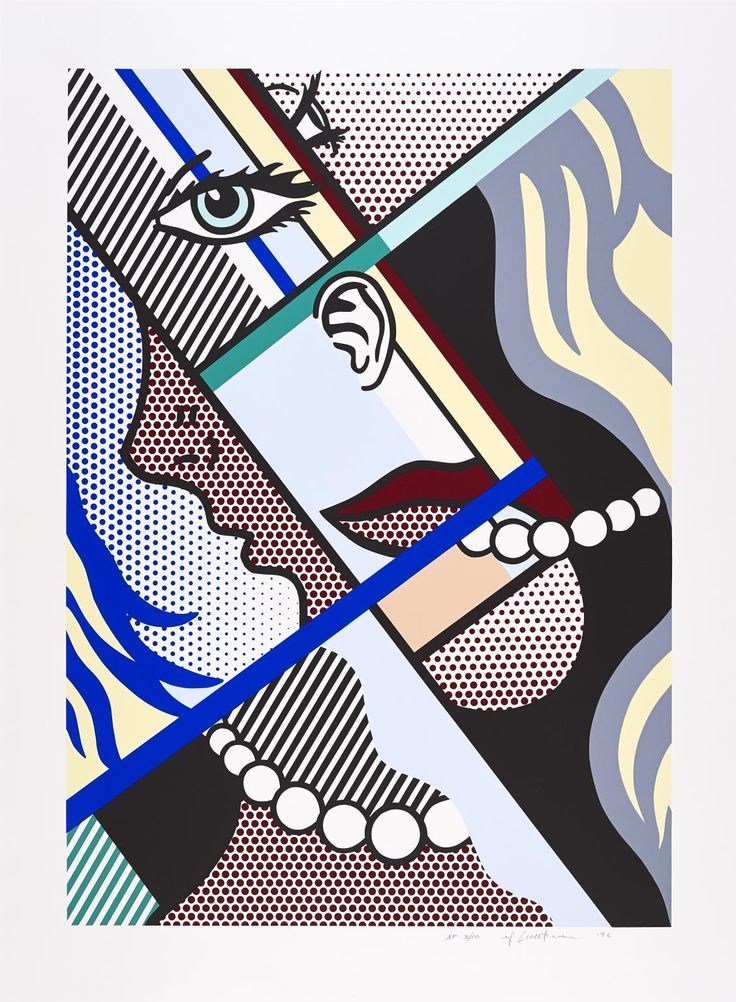 Artwork page for 'Modern Art I', Roy Lichtenstein, 1996 on display at Tate Liverpool.