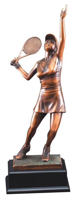 "17"" Female Tennis Trophy Sculpture"