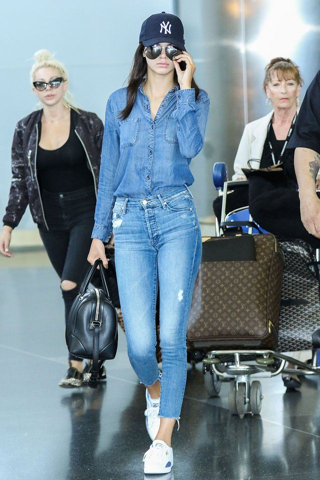 Kendall Jenner | The recipe for getting a supermodel-worthy airport look is simple—and, no, it doesn't require a bodysuit.