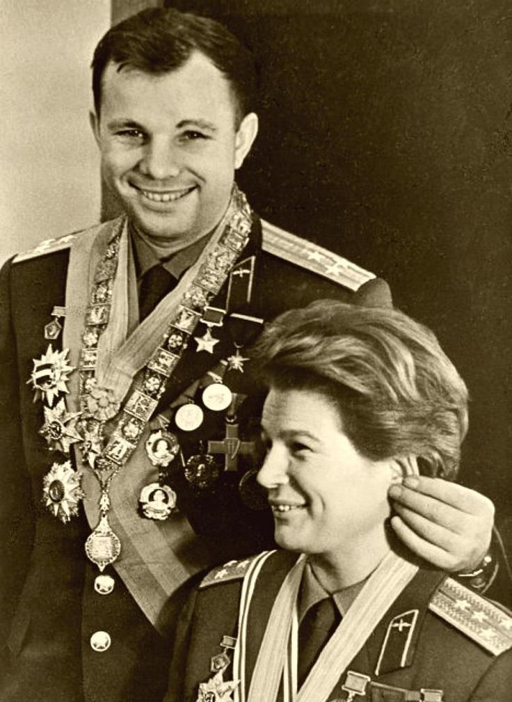 1961-1963 - The First Man & Woman In Space: Yuri Gagarin (Vostok 1 Mission, 12 April 1961) & Valentina Tereshkova (Vostok 6 Mission, June 16, 1963)