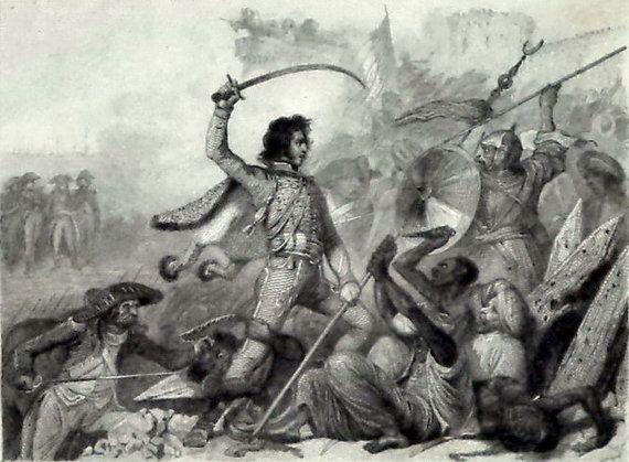Napoleon Rare Engraving 1835 Battle Ptolmais by MushkaVintage3