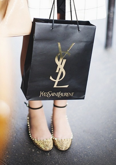 #YSL shopping bag