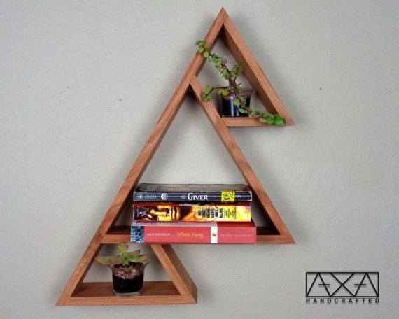 SINGLE Solid wood Three Mountains Triangle by AXAhandcrafted