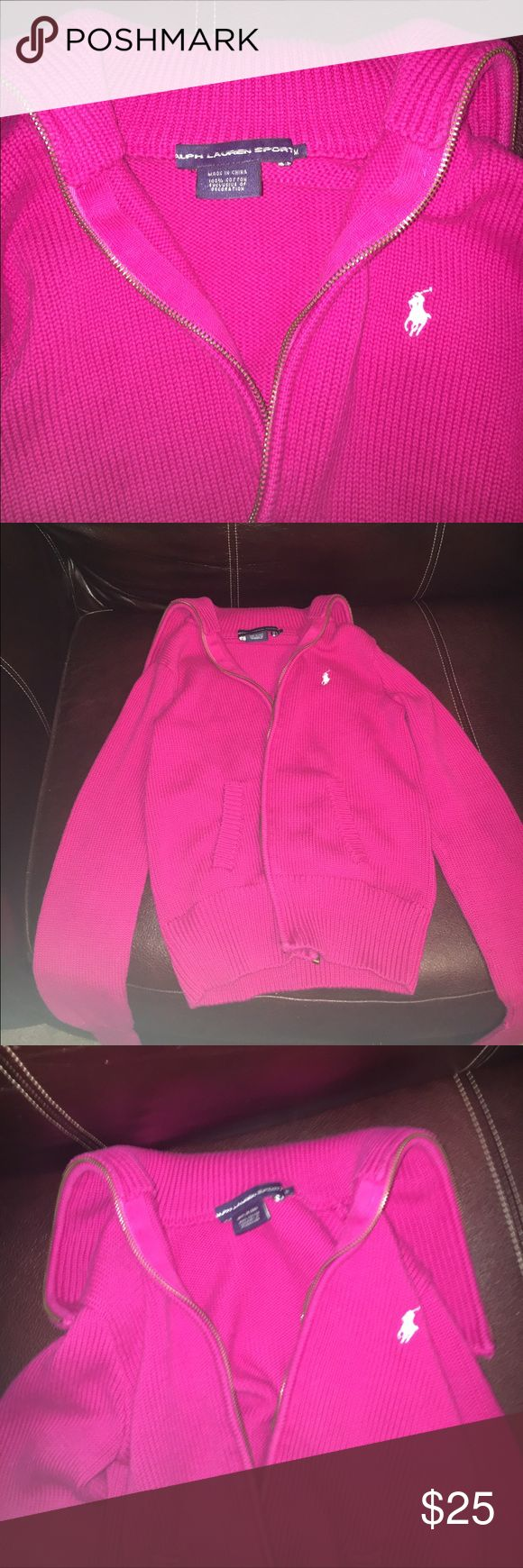Polo jacket Hot pink polo jacket. Super cute and super warm. Size medium Polo by Ralph Lauren Jackets & Coats