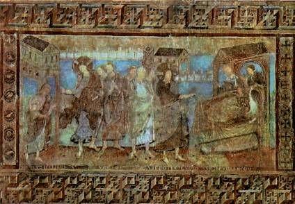 монастырь райхенау.фрески ок 1000 о чудесах христа
