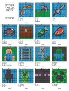 Minecraft Multiplication and Division Activities