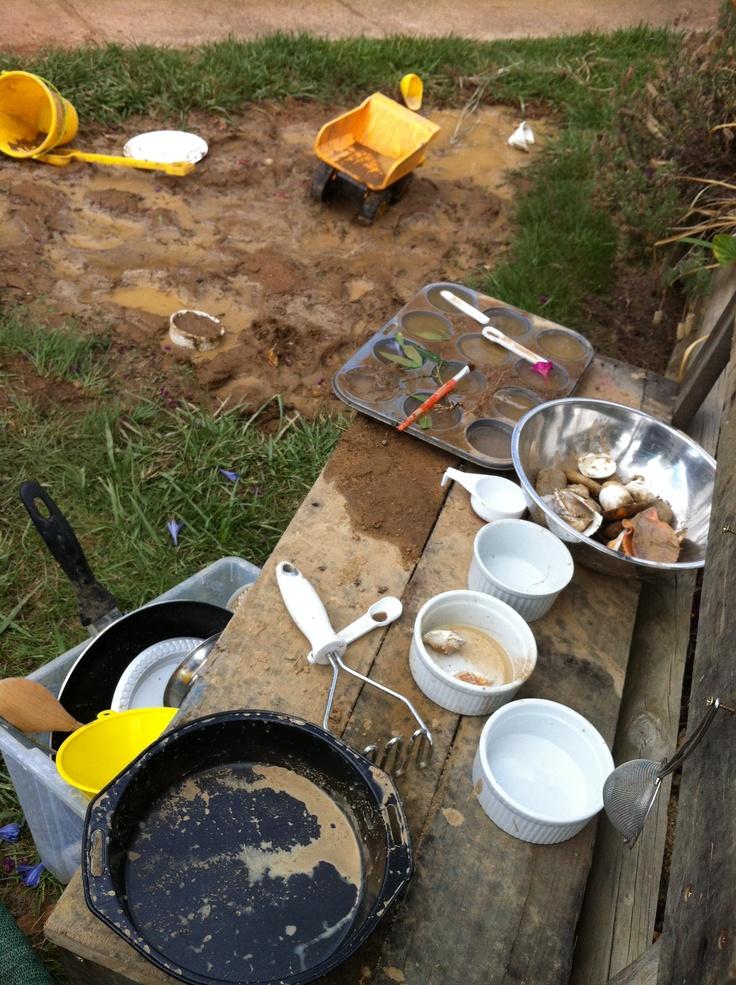 54 best children's mud pie kitchen images on pinterest | outdoor