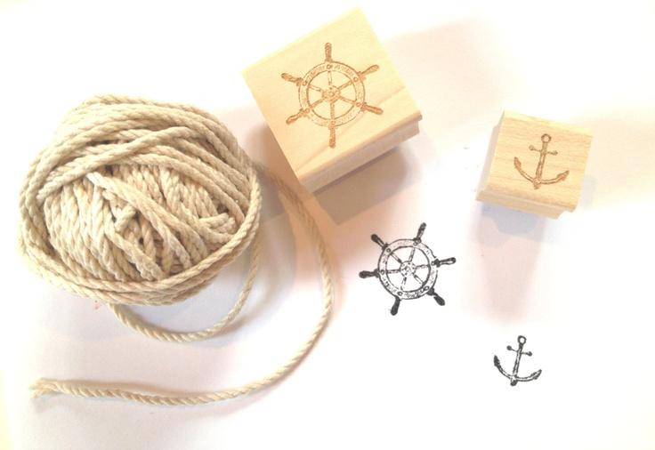 Tiny nautical stamp set ready to ship beach wedding for Is ready set decor legit