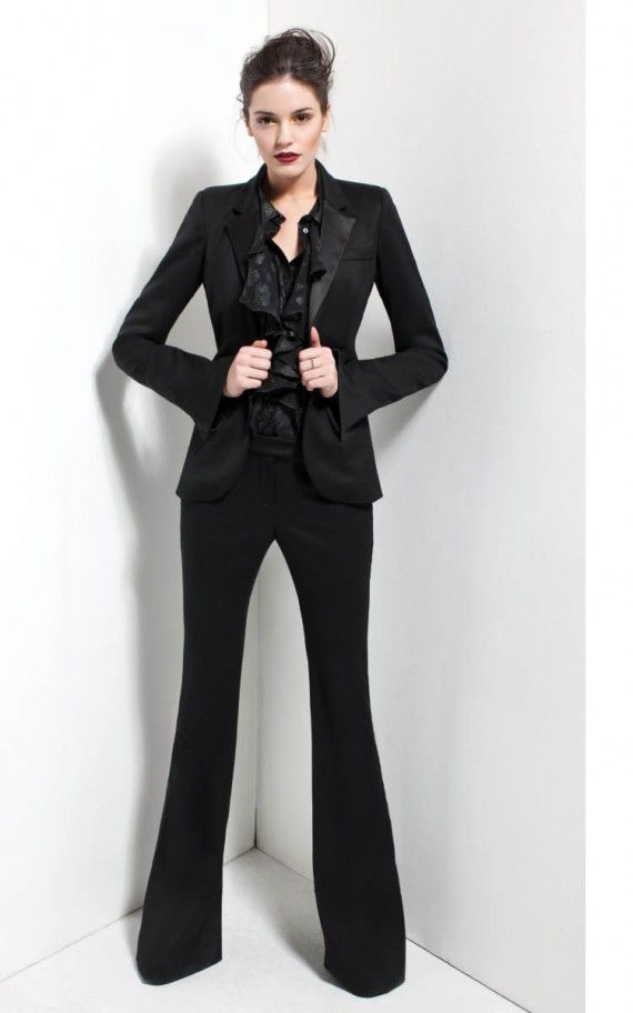 Love this All Black Suit by Rachel Zoe
