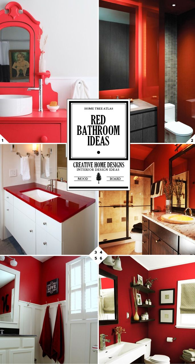1000 ideas about red bathroom decor on pinterest red bathrooms grey bath towels and red - Red bathroom pictures ...