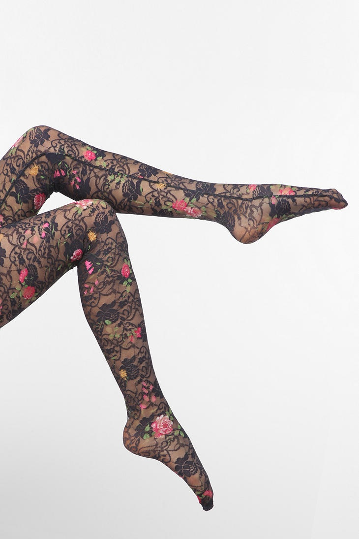 Floral lace tights :)