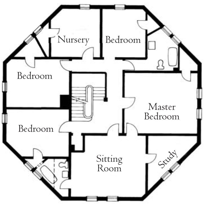 8 best floor plans images on pinterest octagon house for Octagonal building plans