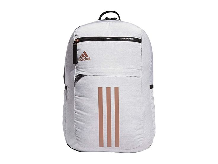 adidas League 3 Stripe Backpack Bags Jersey White/Black/Rose Gold ...