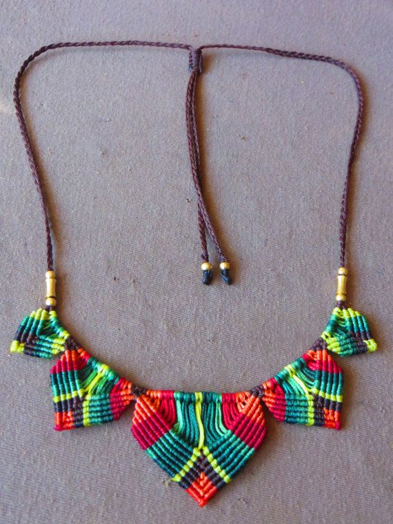 macramogly colorful necklace by MacraMogly on Etsy
