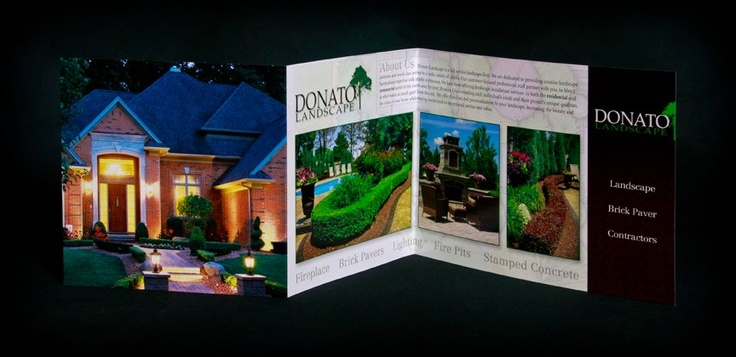 Commercial Graphics #print & #design for Donato Landscape brochure; photography by Photography by Lois.
