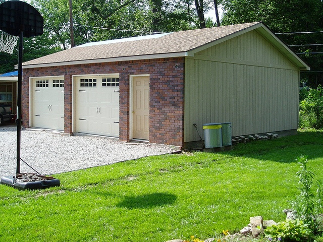 24x30 brick front garage made by tuff shed tuff shed for Tuff sheds