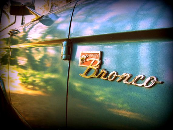 1972 Classic Ford Bronco Logo Fine Photography Print by GreenBomb